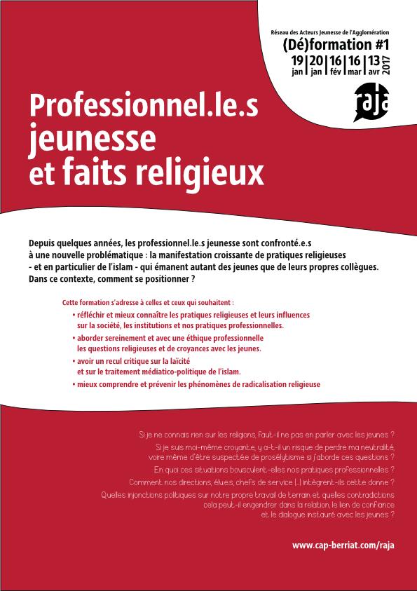 Programme Raja Professionnel.le.s jeunesse et faits religieux