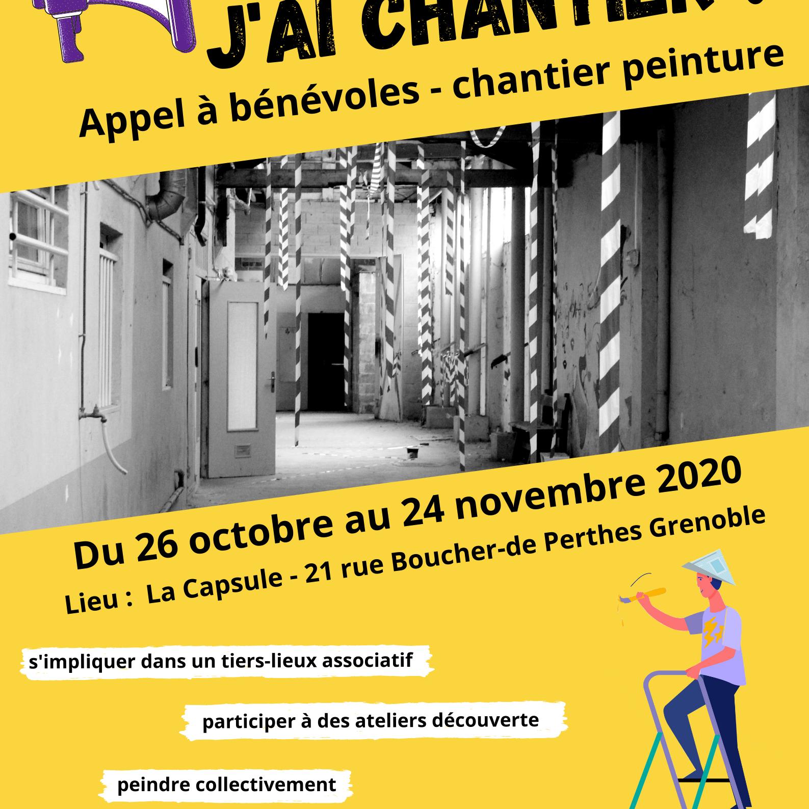 Chantier participatif Cap Berriat affiche