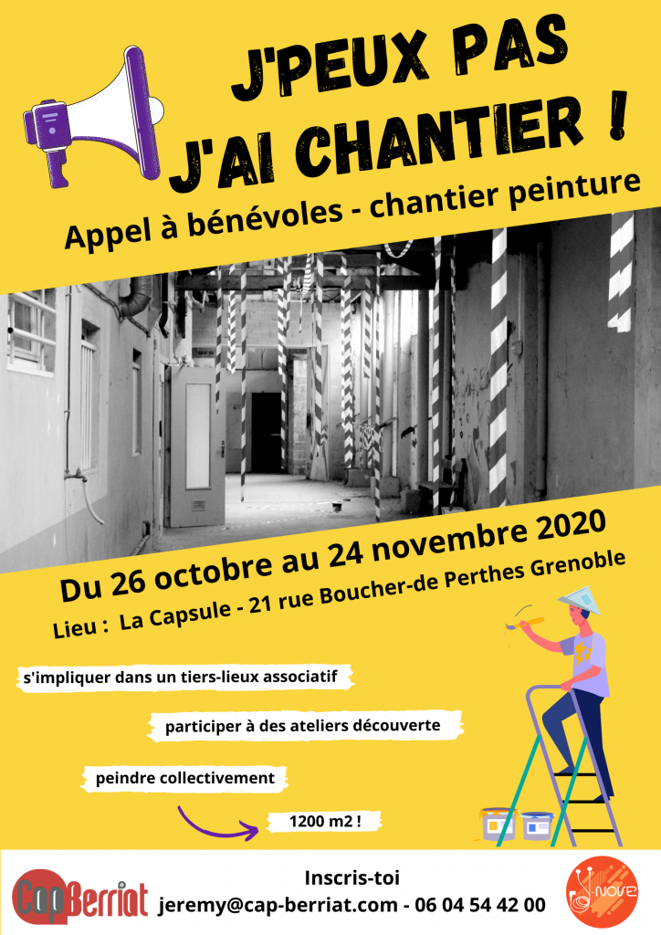 Chantier participatif Cap Berriat affiche