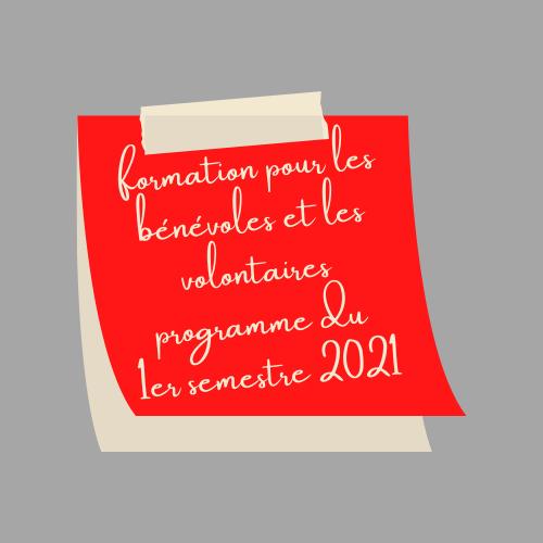 Programme 2021 des formations bénévoles de Cap Berriat