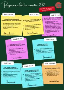 Programme des formations pour les bénévoles 2021 par l'association Cap Berriat à Grenoble